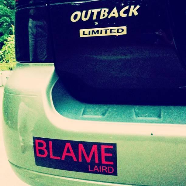laird hamilton blame laird bumper sticker