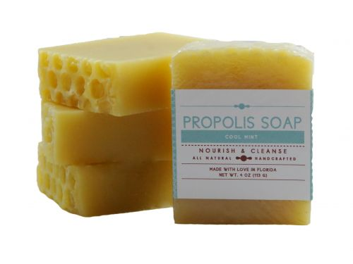 cool mint propolis soap