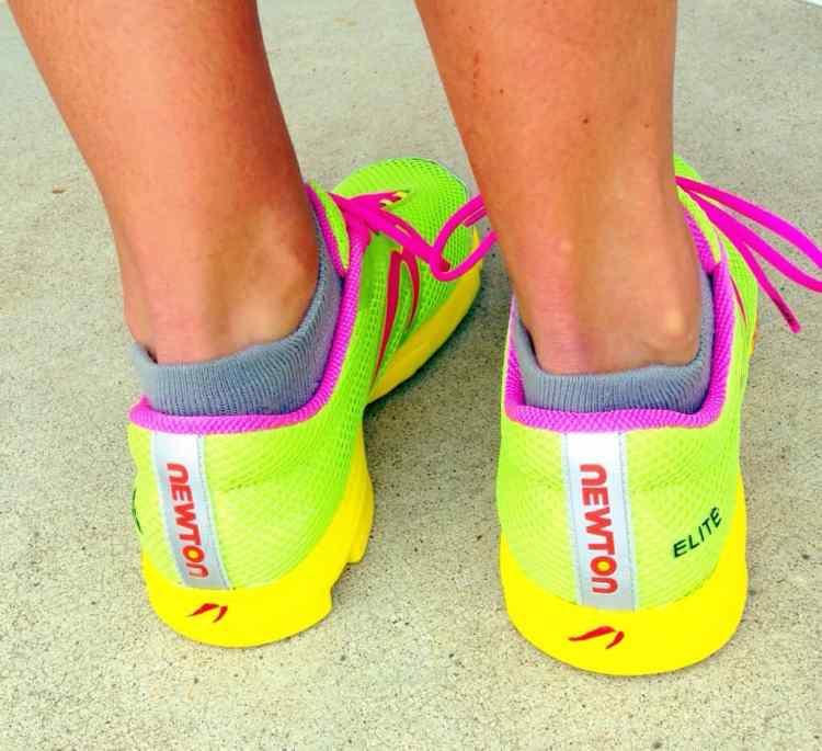 newton running shoe neon distance elite