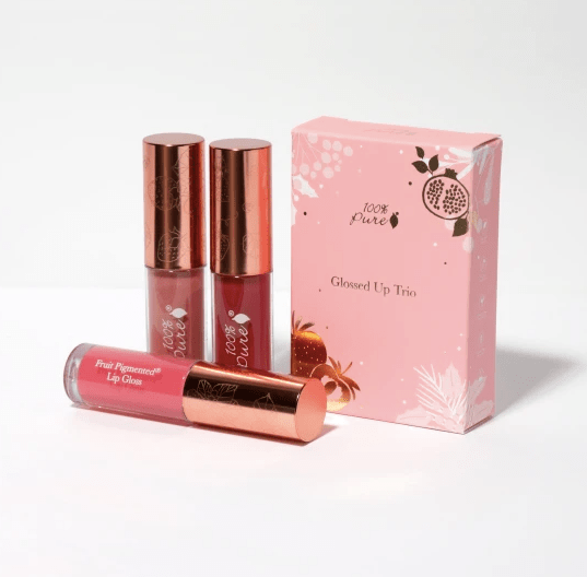 100 percent pure glossed up trio gift
