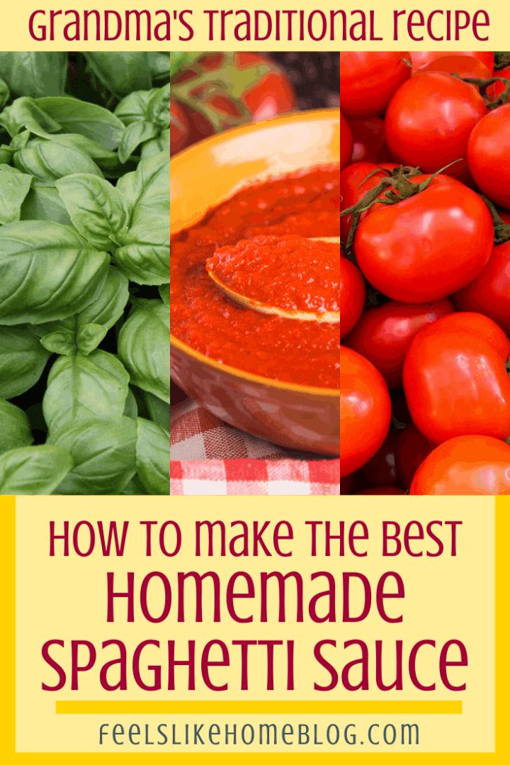 Grandma\'s Homemade Spaghetti Sauce Recipe