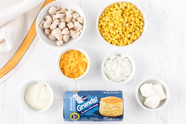 chicken corn mini pies ingredients