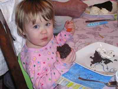 Gracie loved the Chocolate Valentino Cake!