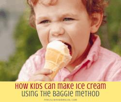 little boy eating homemade ice cream