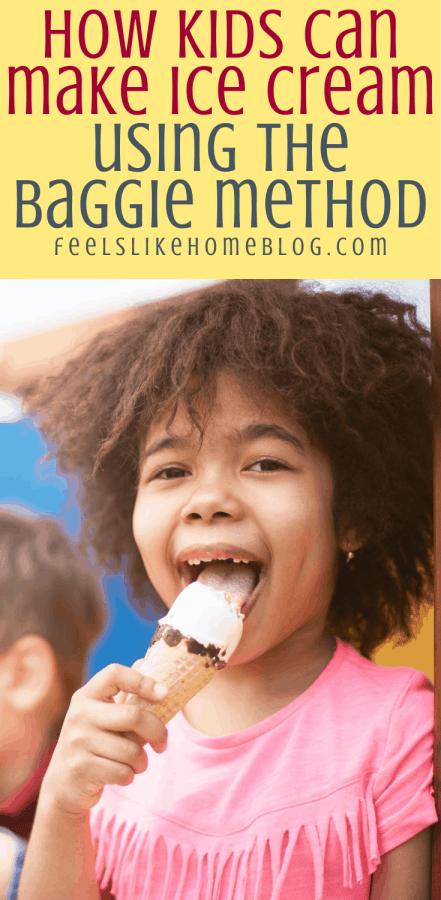 a little girl eating vanilla ice cream