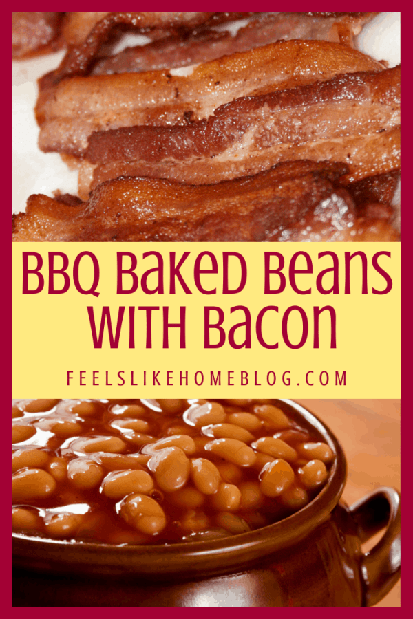 bacon and beans in crock