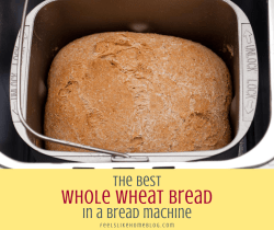 whole wheat bread in the bread machine