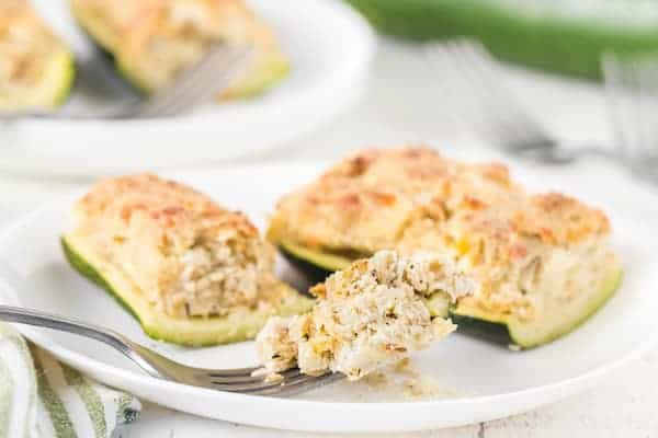 cooked stuffed zucchini, ready to eat