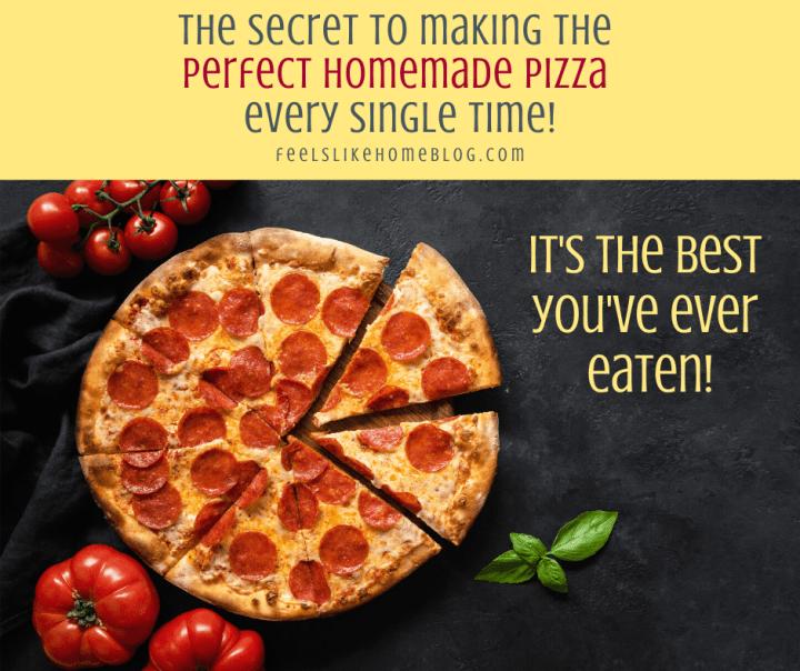 a homemade pepperoni pizza