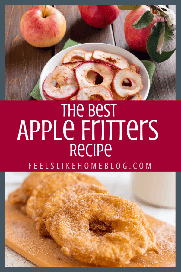 deep fried apple rings and plain apple rings