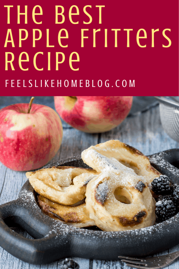 baked and battered apple rings