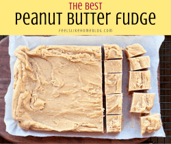 peanut butter fudge on a cutting board