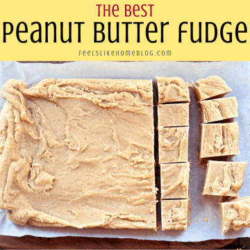 peanut butter fudge on a cutting board