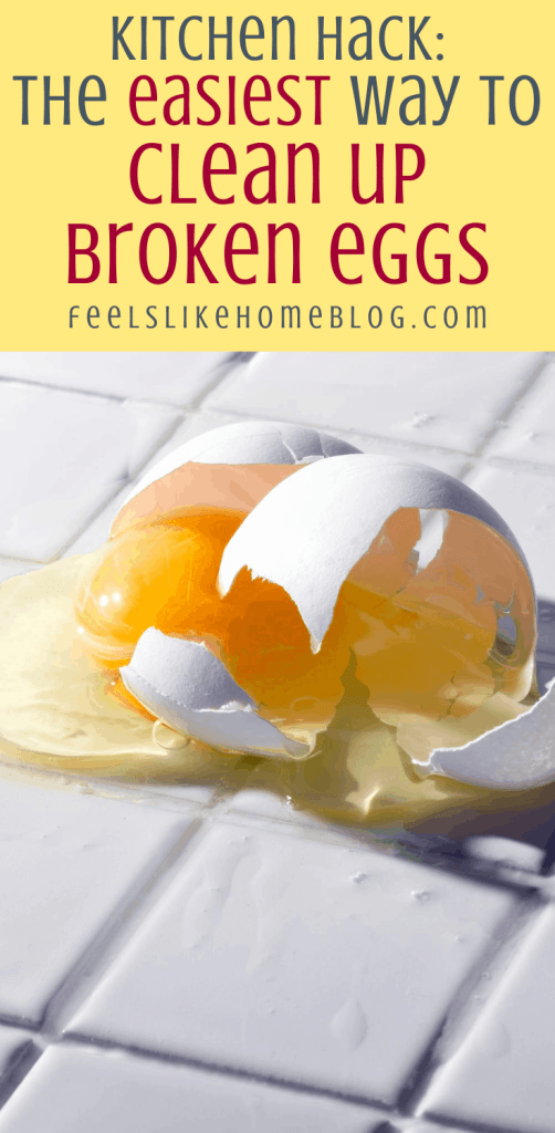 a broken egg that someone dropped on the floor