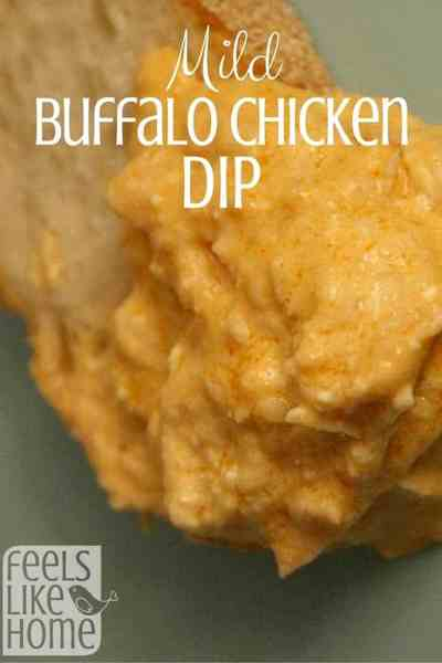How to make the best simple and easy mild buffalo chicken dip recipe - Use Frank's Red Hot Sauce, Texas Pete, or your hot sauce of choice to make this baked dip with Ranch dressing and shredded chicken. Gluten free and low carb.