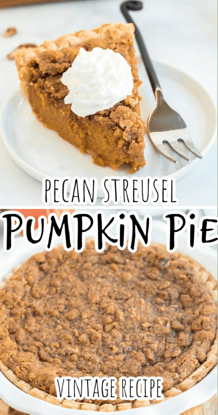 Gourmet Pumpkin Pie with Pecan Crumb Topping