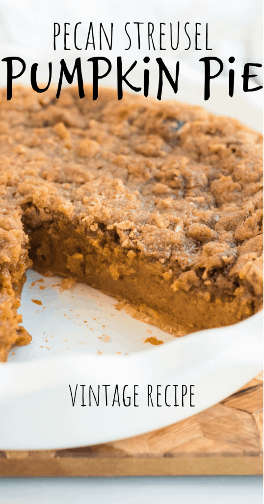 a pecan pumpkin pie with one slice missing