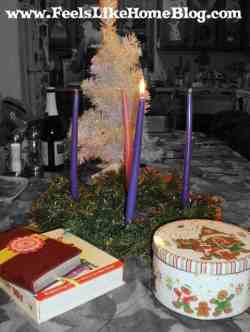 An advent wreath