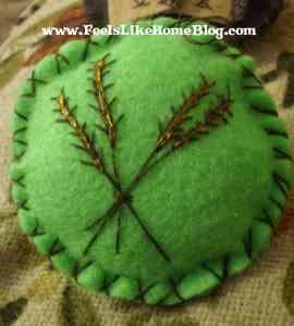 Ruth - Wheat ornament