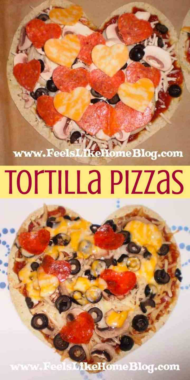How to Make an Easy Heart-Shaped Tortilla Pizza
