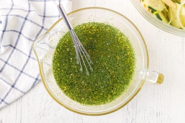 cucumber pasta salad dressing