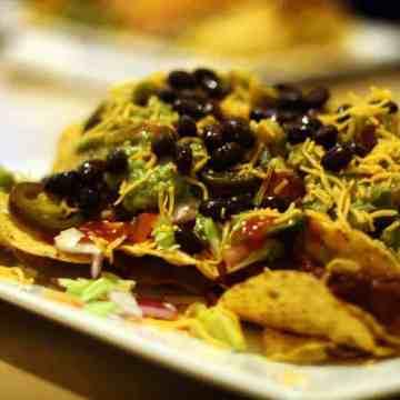 sausage cheese bean nachos