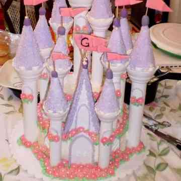 A princess castle cake