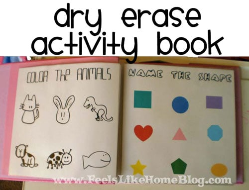 A dry erase activity book for preschoolers