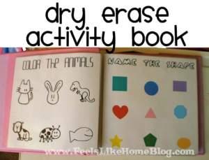 A dry erase activity book for preschoolers