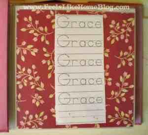 preschool activity book name page
