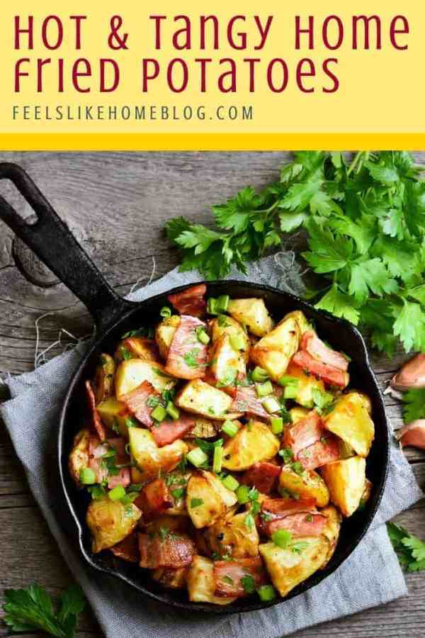 A skillet of home fries