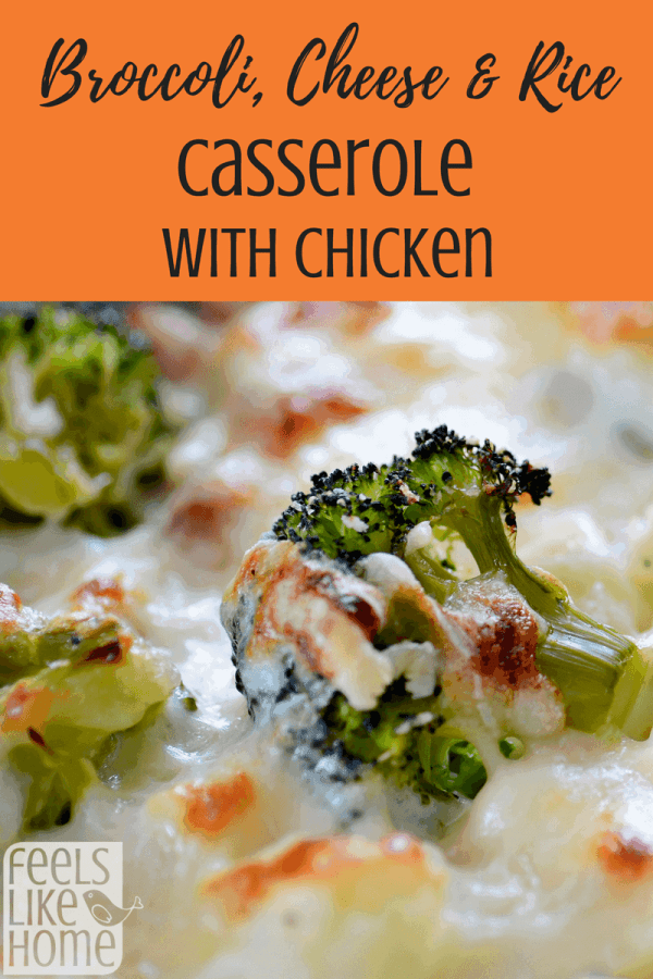 The best broccoli, cheese & rice main dish casserole recipe - This simple and easy recipe uses Velveeta  and shredded chicken to make a rich and creamy casserole. Use fresh or frozen broccoli and bake.