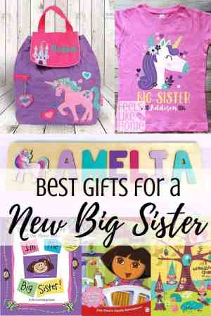 Best gift ideas for a new big sister or any older siblings - The best gifts to get for children when a new baby is born. Perfect for in the hospital or at home. Usually from moms or dads but could be from other kids or families. Awesome for toddlers and preschoolers.