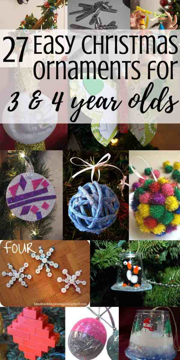 A collage of Christmas ornament crafts
