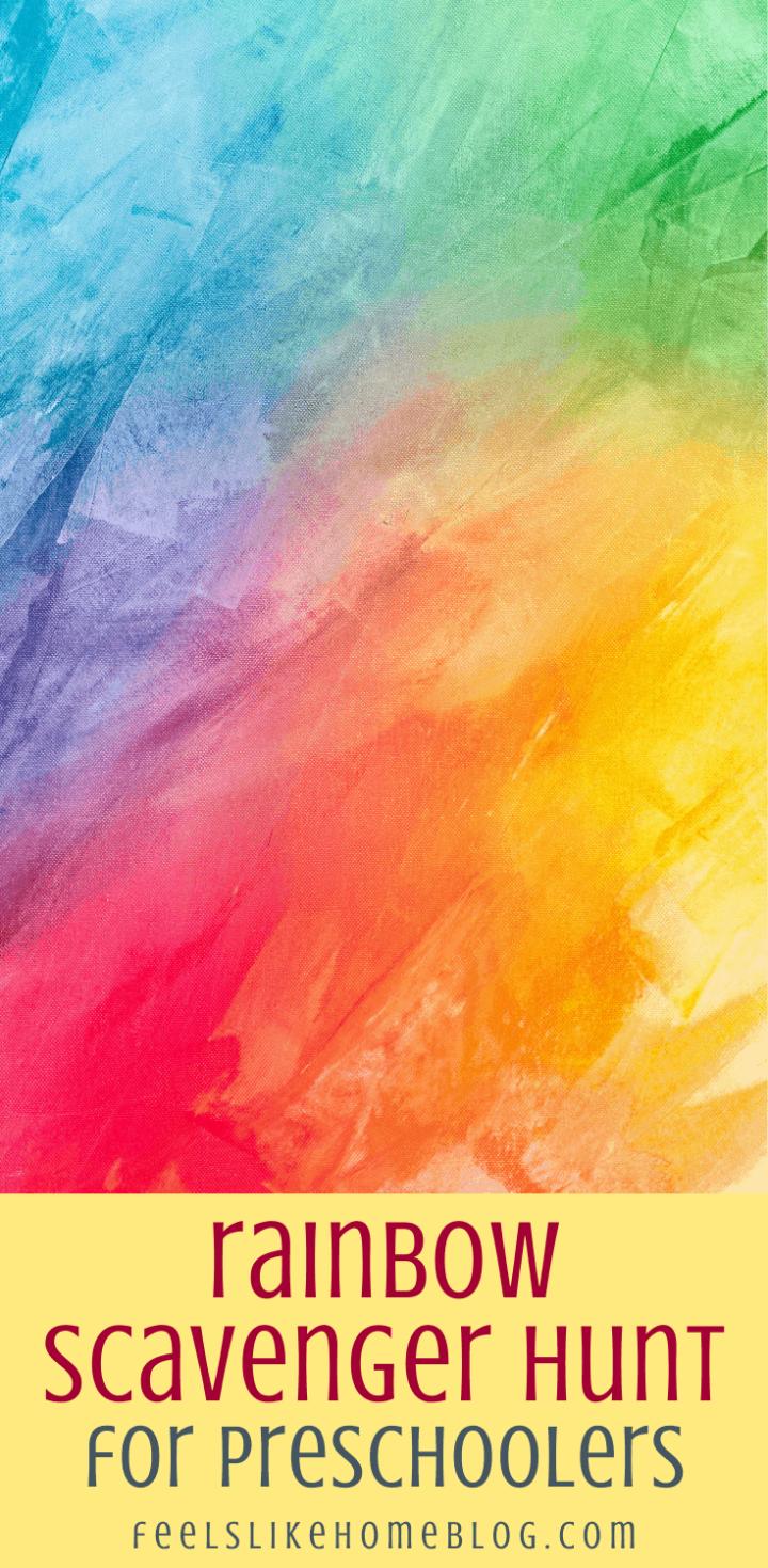A Rainbow Scavenger Hunt for Preschoolers