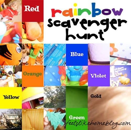 rainbow scavenger hunt for preschoolers