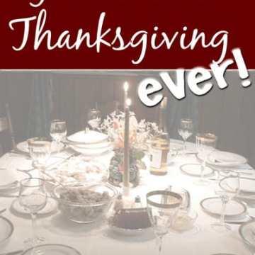 a table set for Thanksgiving dinner