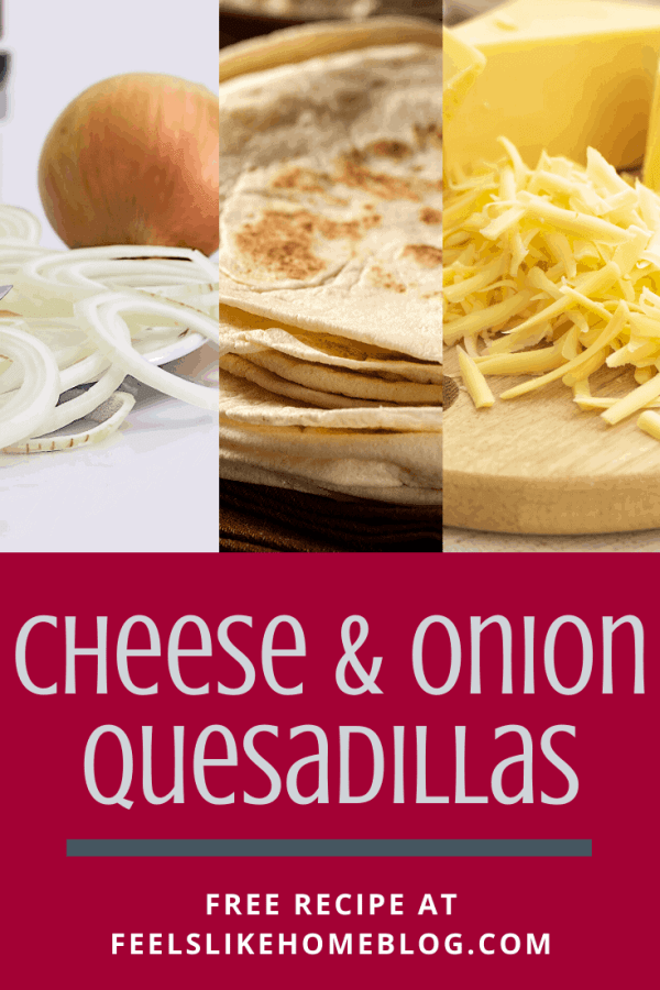 A collage of onions, tortillas, and cheese
