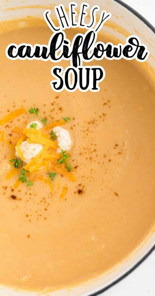 a closeup of cauliflower soup