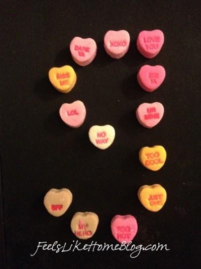 candy hearts activities - handwriting