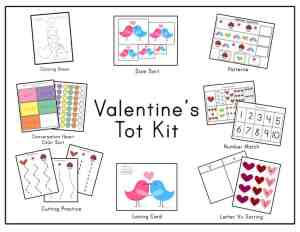 valentines day homeschool printables
