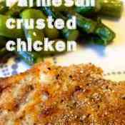 Parmesan Crusted Chicken Breasts with Fresh Asparagus