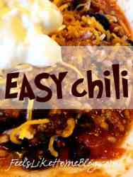 A close up of chili