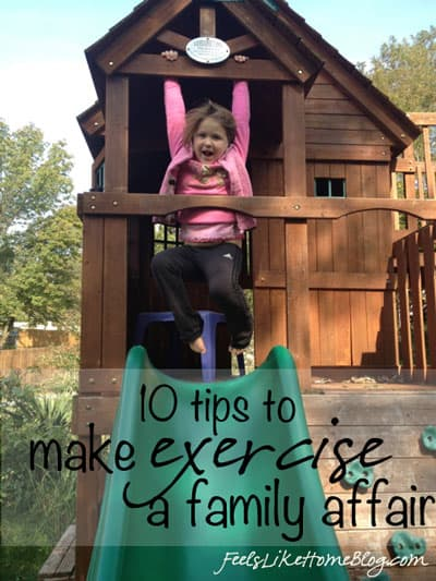 10 Tips and ideas to help you exercise with your kids - You CAN exercise with your kids! Whether you work out at home or go somewhere else, there are lots of activities that will get your children involved and accomplish your health goals - for them and for yourself. Perfect for parents and families.