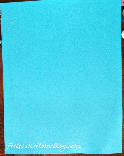 A piece of blue paper