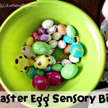 Frugal Easter Egg Sensory Bin