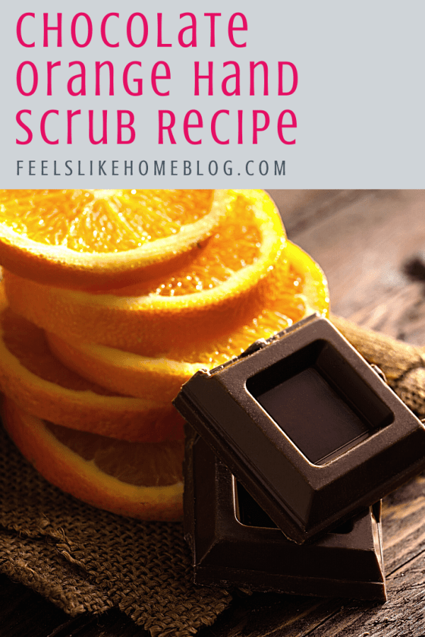 How to make the best homemade DIY chocolate orange sugar hand scrub - This refreshing recipe is quick and easy with essential oils, brown and white sugar, and cocoa powder for a healing deep clean that is moisturizing and exfoliating.