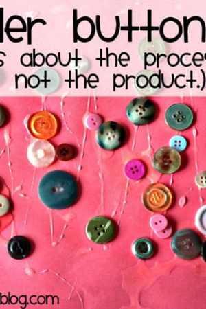 Toddler Button Art