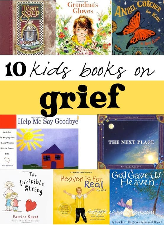 10 kids books on grief - The best picture books for children on death, dying, and grief and loss. Show healthy feelings - not all sad, many portray messages of hope and peace. These thoughts and truths will help teens and adults too as the messages are universal. Beautiful stories.