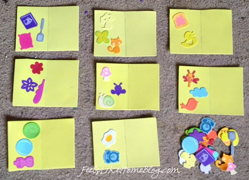 Sticker Matching Activity Cards